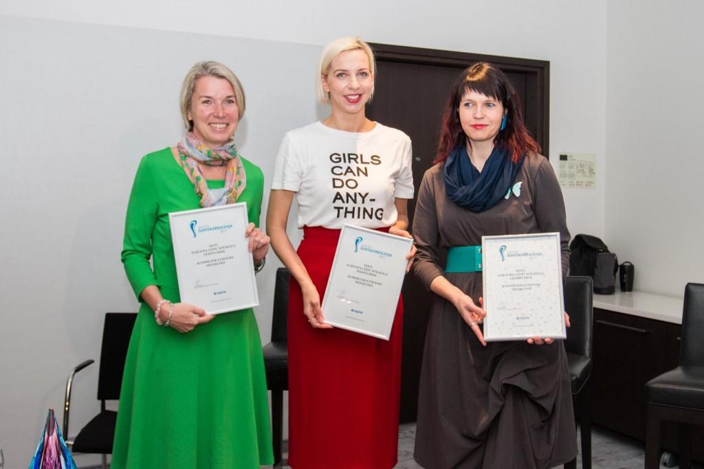 Aasta Suhtekorraldaja 2017 üleandmine - Maris Hellrand Annikky Lamp Tiina Rekand