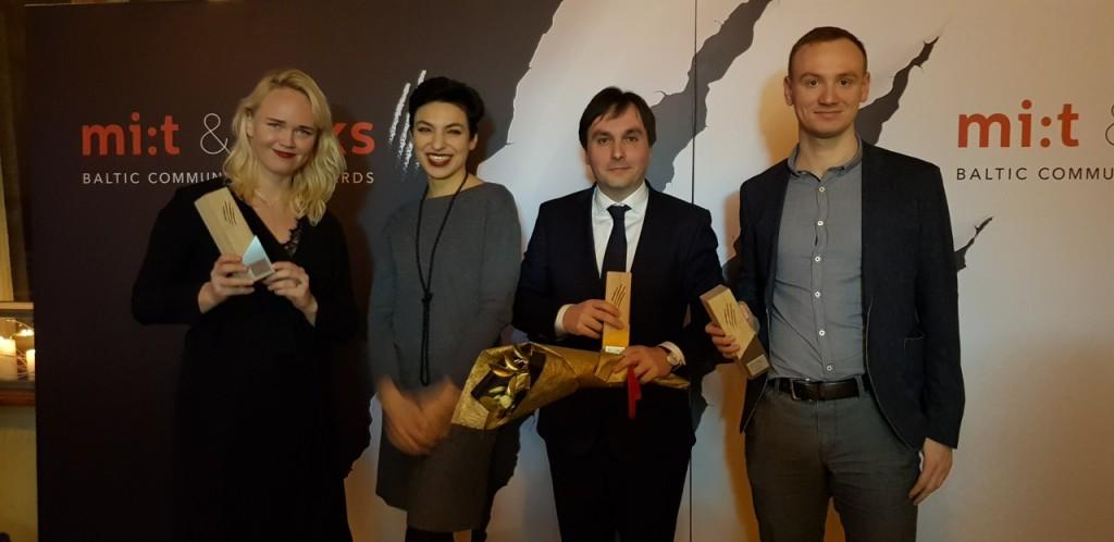 Fotol Ann Hiiemaa Aleksandra Moorast Hannes Hamburg ja Jonatan Karjus